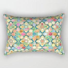 Gilded Moroccan Mosaic Tiles Rectangular Pillow