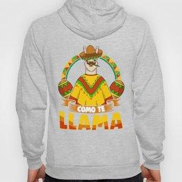 Alpaca Cinco De Mayo Como Te Llama Mexican Gift Hoody