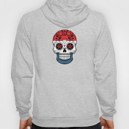 Sugar Skull with Roses and Flag of The Netherlands Hoody