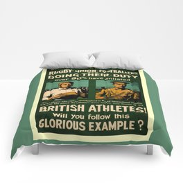 British rugby, football players call for duty Comforters
