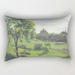 "Camille Pissarro ""South Norwood, étude"" Rectangular Pillow"