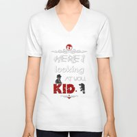casablanca V-neck T-shirts featuring Here's looking at you, kid. by Siriusreno