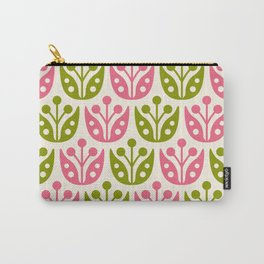 Mid Century Flower Pattern 14 Carry-All Pouch