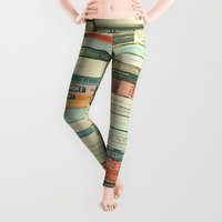 and Leggings featuring Bookworm by Cassia Beck