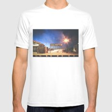 Astoria Blvd Mens Fitted Tee White MEDIUM
