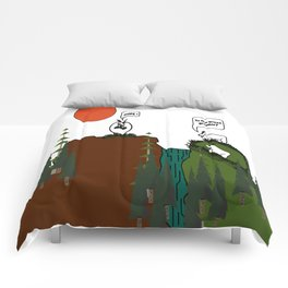 Is the grass greener? Comforters