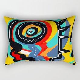 Wild Heart Street Art Graffiti Primitive Rectangular Pillow