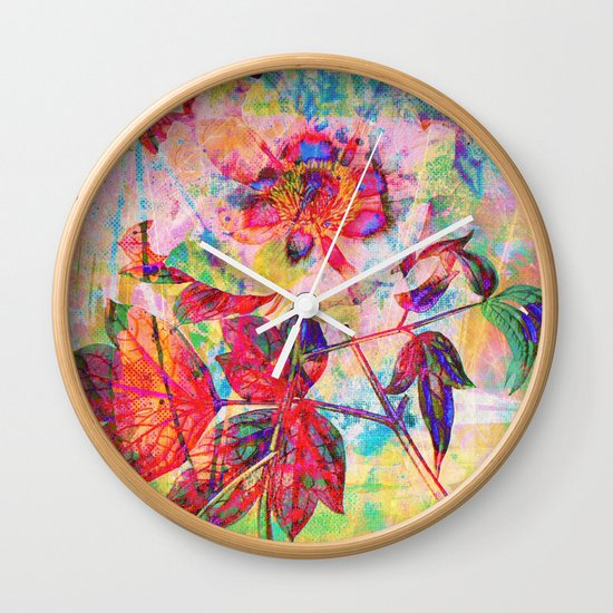 abstract anemone Wall Clock