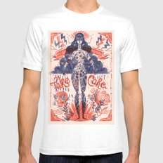 Miss Universe LARGE Mens Fitted Tee White