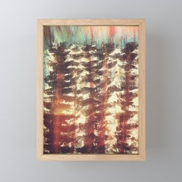 A forest of trees, Yosemite Framed Mini Art Print