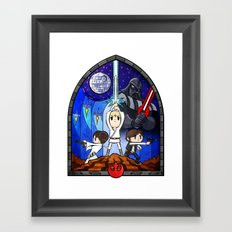Window to A New Hope Framed Art Print