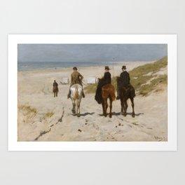 Morning Ride On The Beach - Anton Mauve Art Print