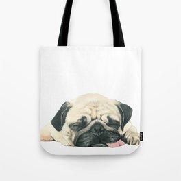 Nap Pug, Dog illustration original painting print Tote Bag