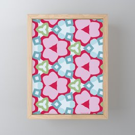 Flower-Kaleidoscope Pink Framed Mini Art Print