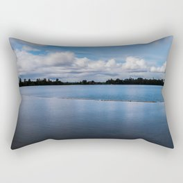 One dredging lake in Germany Rectangular Pillow