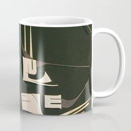Modern Metropolis- Black and White Abstract  Coffee Mug