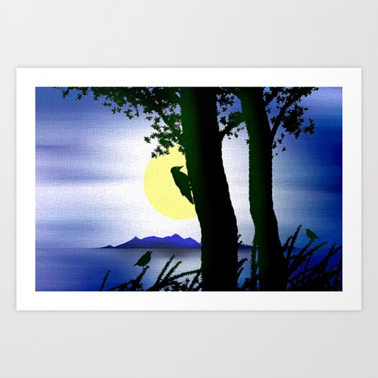 Archipelagoes and nature. Art Print