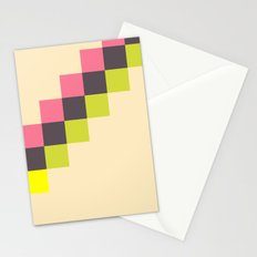 Stairs of Squares Stationery Cards