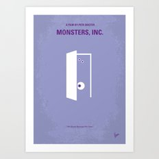 No161 My Monster Inc minimal movie poster Art Print