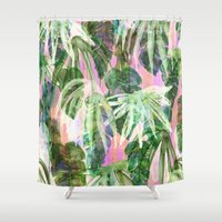Lindsey Tropical pink Shower Curtain