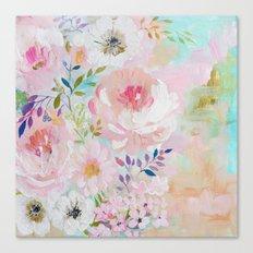 Acrylic rose garden  Canvas Print