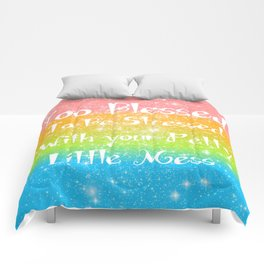 Too Blessed to Be Stressed Pastel Rainbow Series #1 Comforters