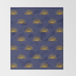 Sol in Indigo Throw Blanket