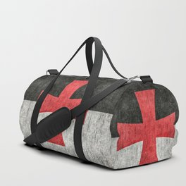 Knights Templar Flag in Super Grunge Duffle Bag