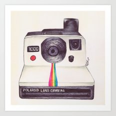 Ballpoint Pen Polaroid Art Print