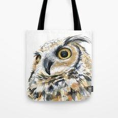 Owl Great Horned Bird of Prey Owls Animals Bird Wildlife Tote Bag