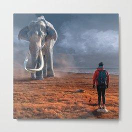 My Monolith Elephant Metal Print