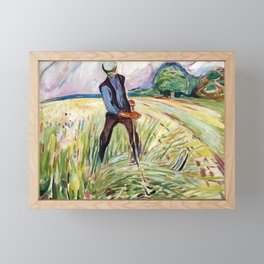 The Haymaker by Edvard Munch Framed Mini Art Print
