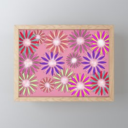 PINK floral healing Framed Mini Art Print