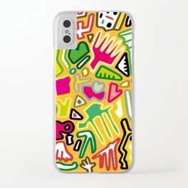 color doodle Clear iPhone Case