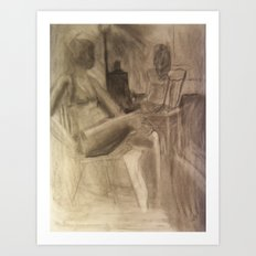 Studio Girls Art Print