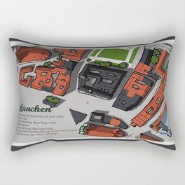 Hand-Drawn Munich Rectangular Pillow