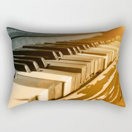 Old Piano Rectangular Pillow