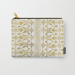 Norwegian Pattern – Gold on White Carry-All Pouch