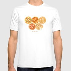 Olympizza Mens Fitted Tee White MEDIUM