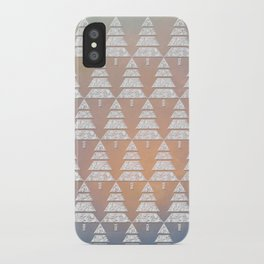 Geometric Christmas Trees 6 iPhone Case