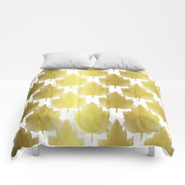 Golden Maple Leaves Comforters