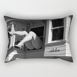 Amazing Legs Out Of A Window Rectangular Pillow