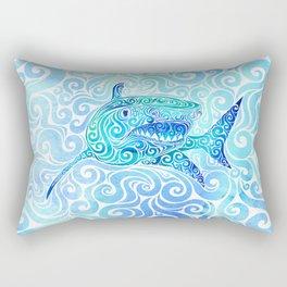 Swirly Shark Rectangular Pillow
