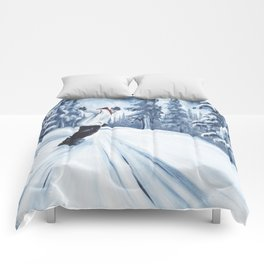 Dropping The Dream Forest Comforters