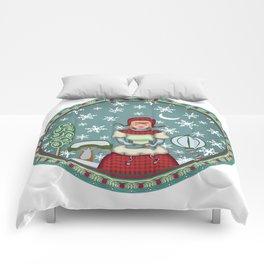 peaceful snow 2 Comforters
