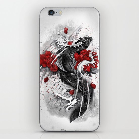 Black Koi iPhone & iPod Skin