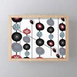 Mid-Century Modern Art Atomic Cocktail Framed Mini Art Print