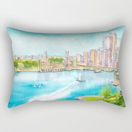A Colorful Twist on Sydney Harbour Rectangular Pillow