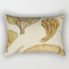 Naturalist Mushrooms Rectangular Pillow