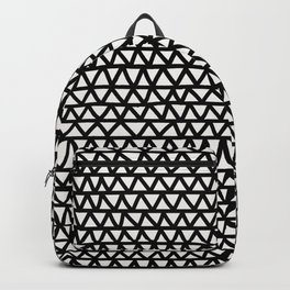 Bold black and white hand-drawn zig-zag- abstract Backpack